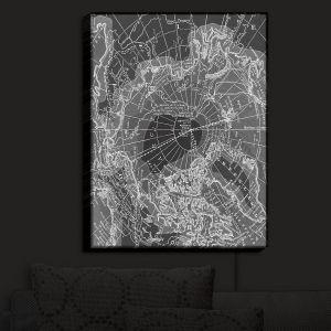 Nightlight Sconce Canvas Light | Catherine Holcombe - Arctic Dark Gray Map