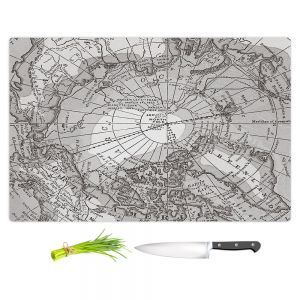 Artistic Kitchen Bar Cutting Boards | Catherine Holcombe - Arctic Light Map