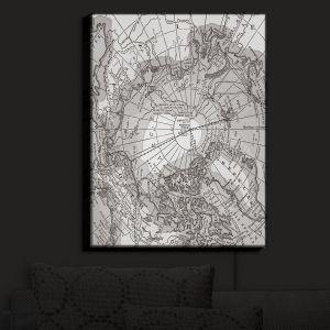 Nightlight Sconce Canvas Light | Catherine Holcombe - Arctic Light Gray Map