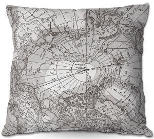 Throw Pillows Decorative Artistic   Catherine Holcombe - Arctic Light Map