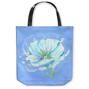 Unique Shoulder Bag Tote Bags | Catherine Holcombe - Blue Flower