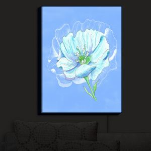 Nightlight Sconce Canvas Light | Catherine Holcombe - Blue Flower