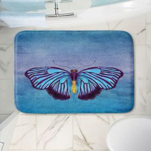 Decorative Bathroom Mats   Catherine Holcombe - Butterfly Blues   Nature insect