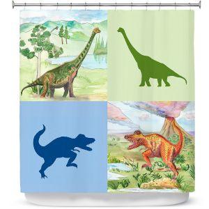 Premium Shower Curtains | Catherine Holcombe - Dinosaur Collage