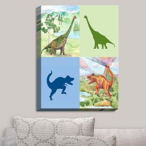 Decorative Canvas Wall Art | Catherine Holcombe - Dinosaur Collage