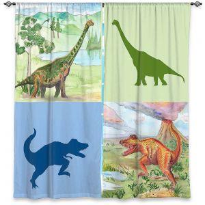 Decorative Window Treatments | Catherine Holcombe - Dinosaur Collage