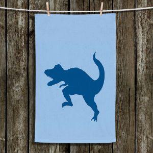 Unique Bathroom Towels   Catherine Holcombe - Dinosaur I Blue