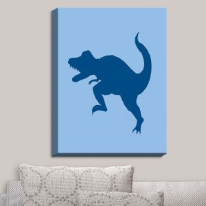 Decorative Canvas Wall Art | Catherine Holcombe - Dinosaur I Blue
