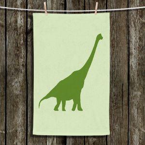 Unique Hanging Tea Towels | Catherine Holcombe - Dinosaur I Green | Dinosaur Long neck