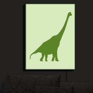Nightlight Sconce Canvas Light | Catherine Holcombe - Dinosaur I Green