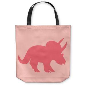 Unique Shoulder Bag Tote Bags   Catherine Holcombe - Dinosaur I Pink