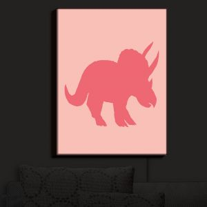 Nightlight Sconce Canvas Light | Catherine Holcombe - Dinosaur I Pink