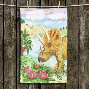 Unique Hanging Tea Towels | Catherine Holcombe - Dinosaur II | Dinosuar Nature