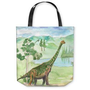Unique Shoulder Bag Tote Bags | Catherine Holcombe - Dinosaur IV