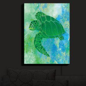 Nightlight Sconce Canvas Light | Catherine Holcombe - Kelp Sea Turtle