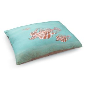Decorative Dog Pet Beds | Catherine Holcombe - Lion Fish Family | Ocean sea creatures nature