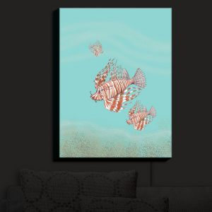 Nightlight Sconce Canvas Light | Catherine Holcombe - Lion Fish Family