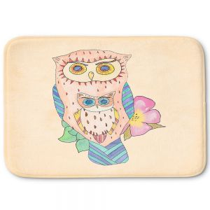 Decorative Bathroom Mats | Catherine Holcombe - Southwest Owls I