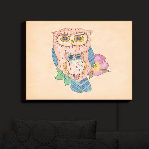 Nightlight Sconce Canvas Light | Catherine Holcombe - Southwest Owls I | Birds Flowers