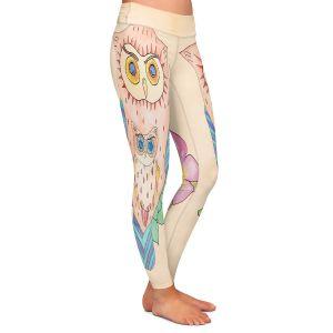 Casual Comfortable Leggings | Catherine Holcombe - Southwest Owls I