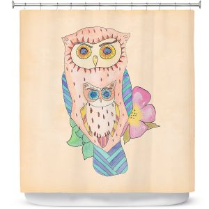 Premium Shower Curtains | Catherine Holcombe - Southwest Owls I