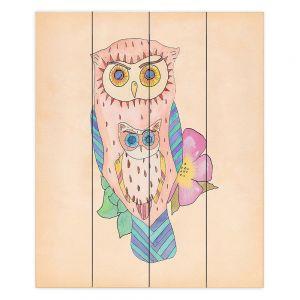 Decorative Wood Plank Wall Art  Catherine Holcombe - Southwest Owls I