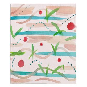Decorative Fleece Throw Blankets | Catherine Holcombe - Southwest Song