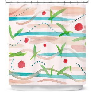 Premium Shower Curtains | Catherine Holcombe - Southwest Song