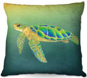 Throw Pillows Decorative Artistic | Catherine Holcombe - Syndney Seaturtle