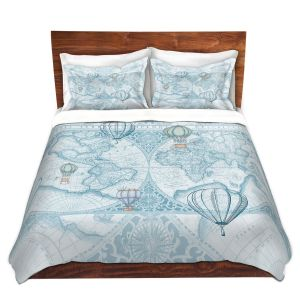 Artistic Duvet Covers and Shams Bedding | Catherine Holcombe - Terralight Blue