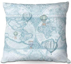 Decorative Outdoor Patio Pillow Cushion | Catherine Holcombe - Terralight Blue