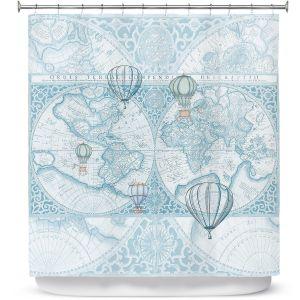 Premium Shower Curtains | Catherine Holcombe - Terralight Blue