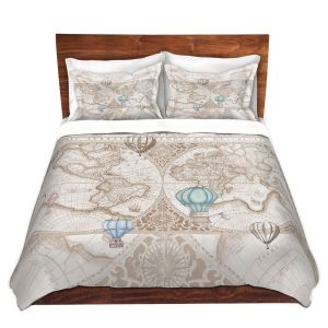 Artistic Duvet Covers and Shams Bedding | Catherine Holcombe - Terralight Brown