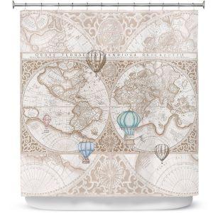 Premium Shower Curtains | Catherine Holcombe - Terralight Brown