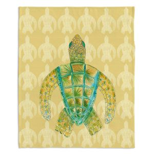 Decorative Fleece Throw Blankets | Catherine Holcombe - Tomas Sea Turtle
