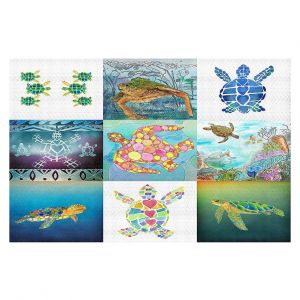 Decorative Floor Coverings | Catherine Holcombe - Turtle Collage