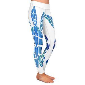 Casual Comfortable Leggings | Catherine Holcombe - Turtle Love Blue