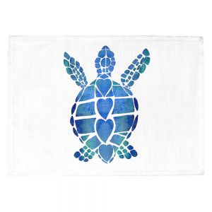 Countertop Place Mats | Catherine Holcombe - Turtle Love Blue