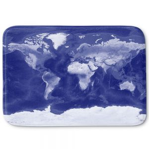 Decorative Bathroom Mats | Catherine Holcombe - World Map Blue