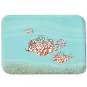 Decorative Bathroom Mats | Catherine Holcombe - Lion Fish Family | Ocean sea creatures nature
