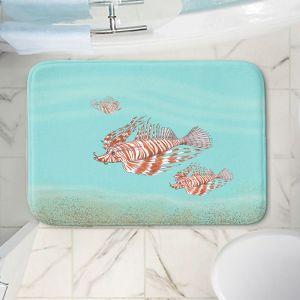 Decorative Bathroom Mats | Catherine Holcombe - Lion Fish Family | Ocean sea creatures nature