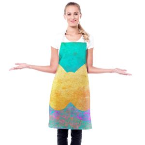 Artistic Bakers Aprons | China Carnella - Aqua Butterfly | Silhouette outline nature insect