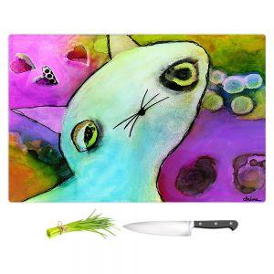 Artistic Kitchen Bar Cutting Boards | China Carnella - Baby Gato | surreal cat animal creature feline