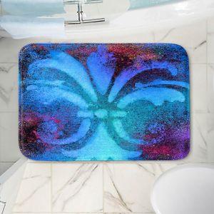 Decorative Bathroom Mats | China Carnella - Bleu de Sparkle | fleur de lit symbol shape outline