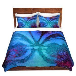 Artistic Duvet Covers and Shams Bedding | China Carnella - Bleu de Sparkle | fleur de lit symbol shape outline