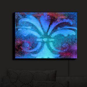 Nightlight Sconce Canvas Light | China Carnella - Bleu de Sparkle | fleur de lit symbol shape outline