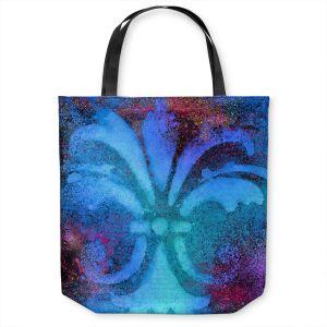 Unique Shoulder Bag Tote Bags | China Carnella - Bleu de Sparkle | fleur de lit symbol shape outline