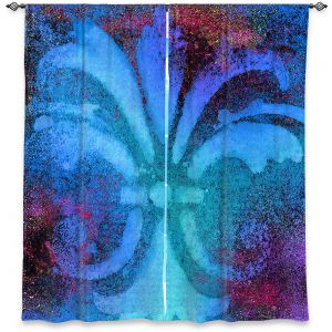 Decorative Window Treatments | China Carnella - Bleu de Sparkle | fleur de lit symbol shape outline