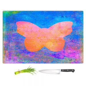 Artistic Kitchen Bar Cutting Boards | China Carnella - Blue Butterfly | Silhouette outline nature insect