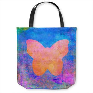 Unique Shoulder Bag Tote Bags   China Carnella - Blue Butterfly   Silhouette outline nature insect